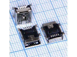 Mini USB 5pin /M-1J Гн. на плату (MUBS1-05SN2)