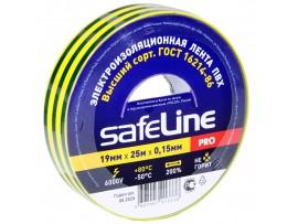 Изолента Safeline 19/25 желто-зеленая