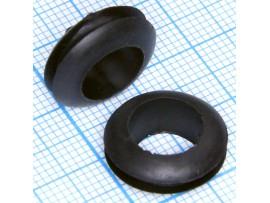Втулка d=10 мм проходная черная