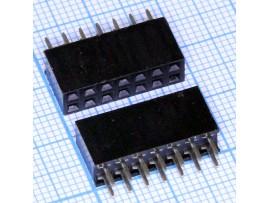 PBD-14  2.54 Розетка 14к.(2х7) на плату