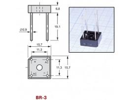 BR32 (200V/3A) Диодный мост