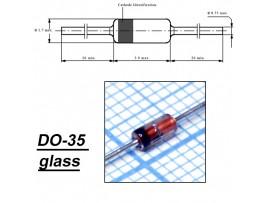 BZX55C22(Стабил.22V 0,4W) стекло