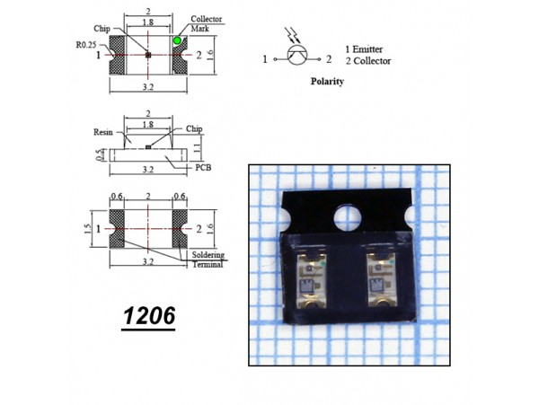 LED CHIP Y BLI BB-HK033-C