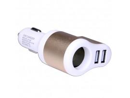 USB 12-24V>2x5V(2,1A) Преобр. напряжения прикуриватель
